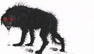 Hlídal zlatý poklad přízračný černý pes?