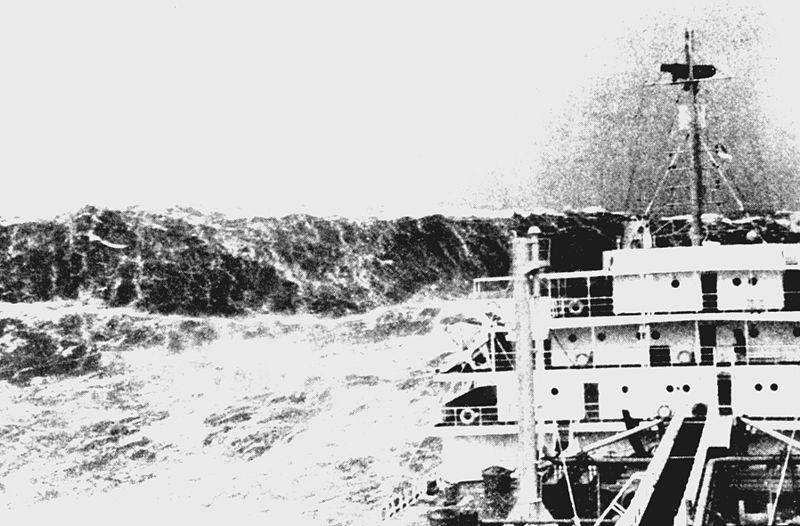 Obří vlna zachycená asi v roce 1940.