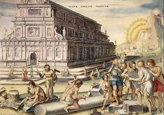Umělecká díla z časů renesance dokládají, že i tehdy si na chrám pamatovali. Foto: Wikimedia Commons