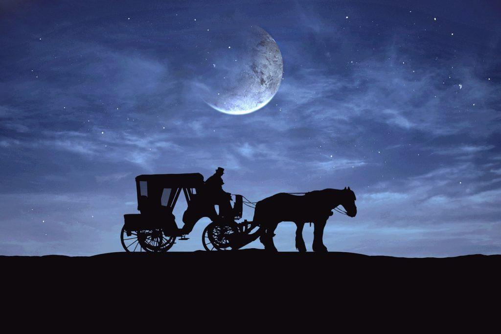 Kočár s kněžnou Drahomírou pohltí podle legendy samo peklo. FOTO: Pixa bay  - volné dílo