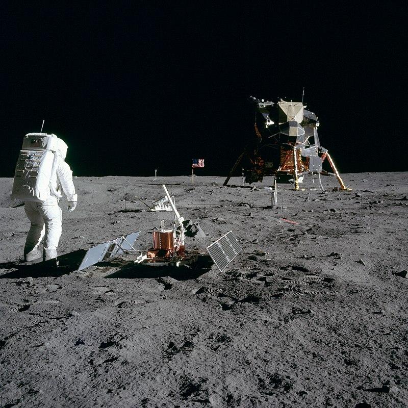 Buzz Aldrin z Apolla 11 na Měsíci. Foto NASA