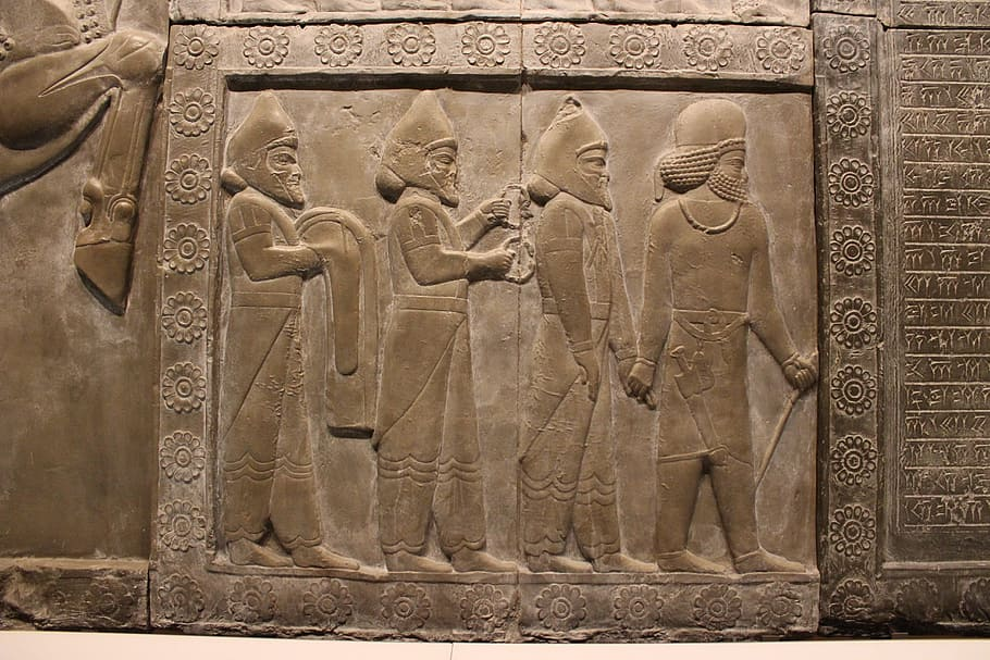 Babylonská rozkvetlá civilizace.