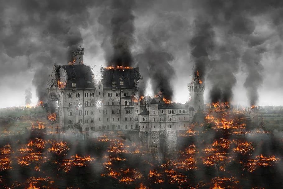 Umělecké ztvárnění apokalypsy.