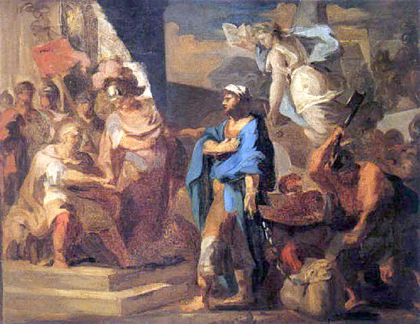Autorem malby je Jean-Antoine-Théodore Giroust.