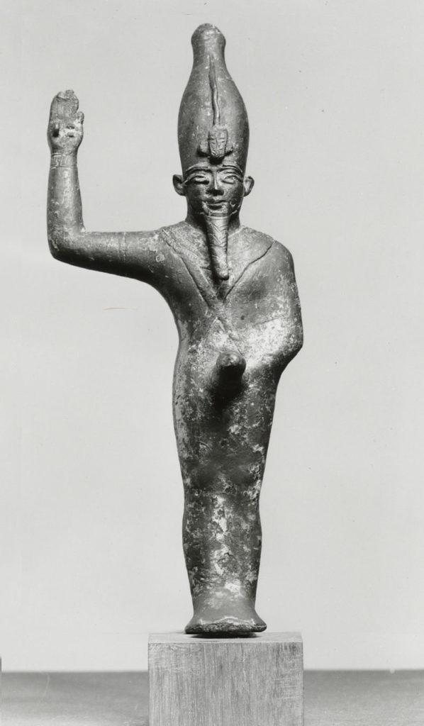 Soška Amona. FOTO: Creative Commons / public Domain / Egypt - Walters Art Museum  Home page  Info about artwork