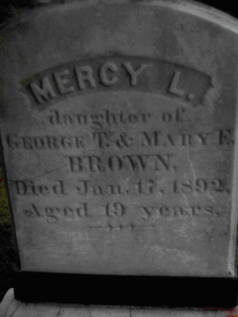 Hrob Mercy Brownové. Foto: Cbarry123 /Creative Commons/Volné dílo