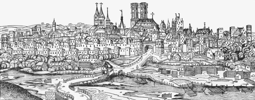 V 15. století má Mnichov kolem 15 000 obyvatel. Kostel by tak pojmul všechny i obyvatele okolních vsí.  Foto: Wikimedia commons -volné dílo