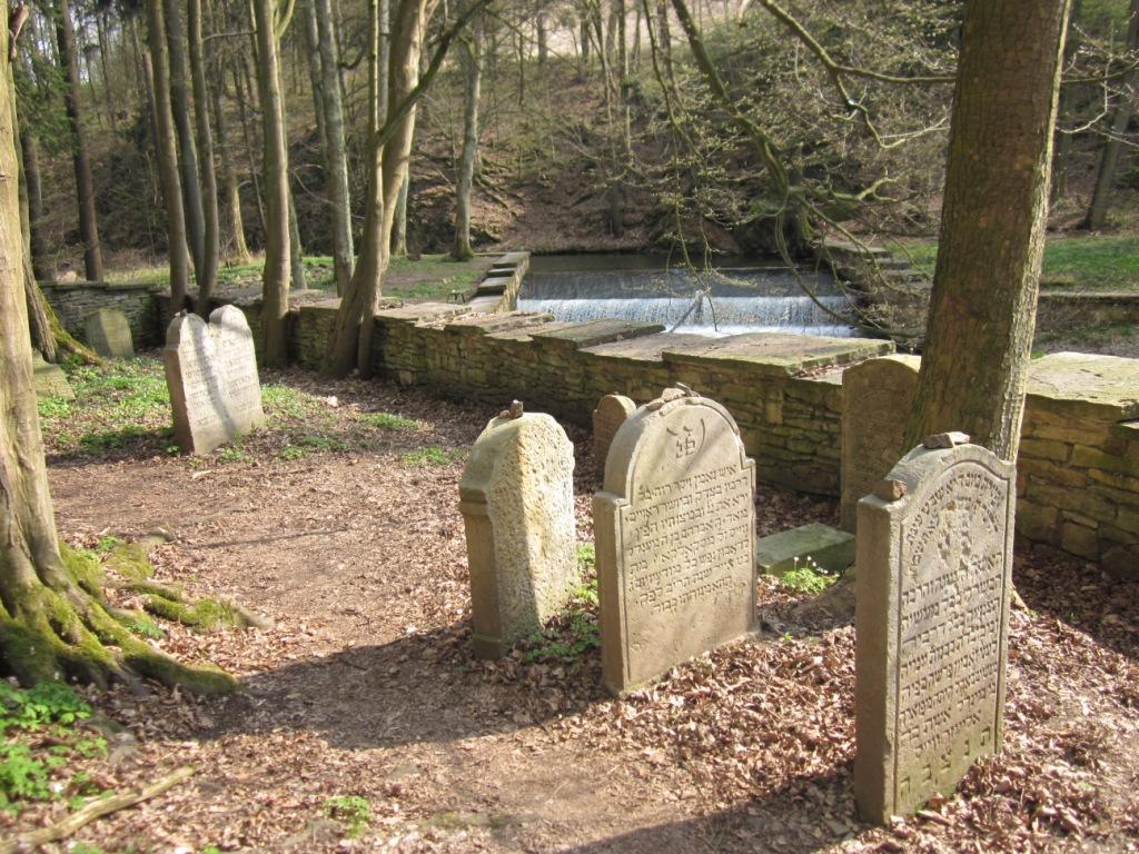 Lesní hřbitov se nachází v sousedství Zlatého potoka.