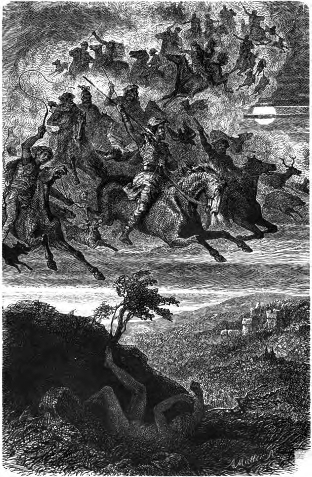 Na přízračný průvod věřili už pohanské národy. Foto: Friedrich Wilhelm Heine/Creative Commons/Volné dílo