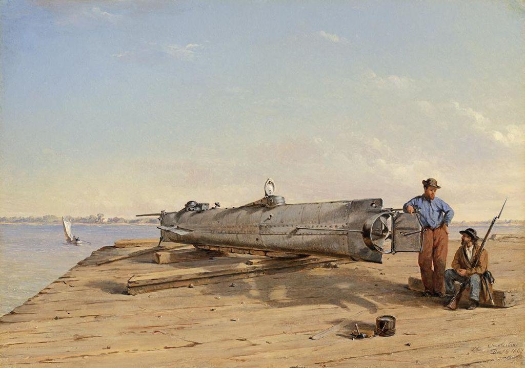 Tajemný modrý oheň na palubě ponorky Hunley