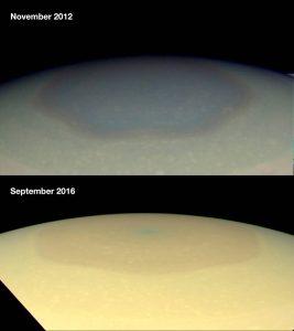 Šestiúhelník na Saturnu změnil barvu: Vědci netuší proč!
